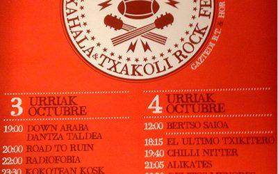 TXAKOLI ROCK FESTIVAL EN APOYO DEL CLUB DE RUGBY GASTEDI