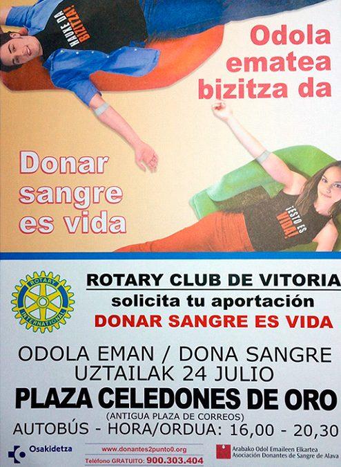 Txakoli alavés colabora con el Club Rotary de Vitoria-Gasteiz
